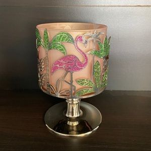 Bath & Body Works Candle Holder Flamingo & Palms